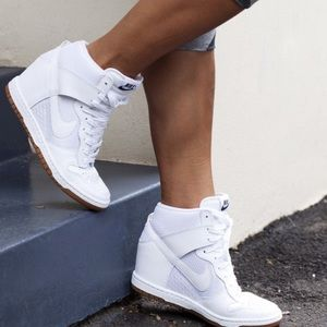 Nike Sky Hi Dunk wedges white on white size 6